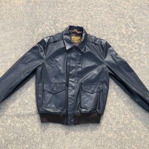 Vintage Leather Air Force Full Zip Pilot Jacket